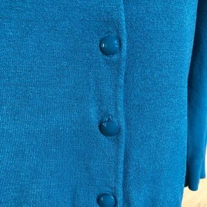 Halogen Sweaters - Halogen Teal Turquoise Peacock Cardigan Sweater